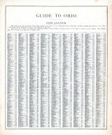 Ohio - Guide 1, United States 1885 Atlas of Central and Midwestern States